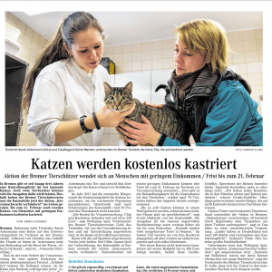 Weser Kurier 3. Februar 2014